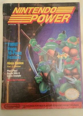 Nintendo Power Magazine Back Issue Vintage May/June 1989 Acceptable Condition