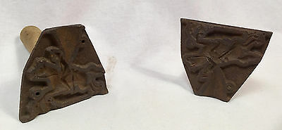 Antique Cast Iron Molds, Horse with Riders