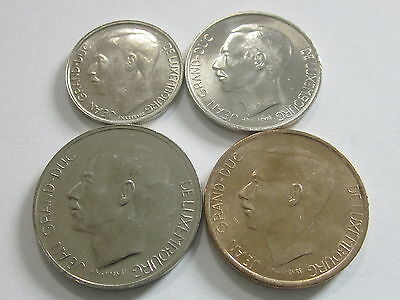 Luxembourg 4 Coins KM 55-58 Uncirculated, Uncertified