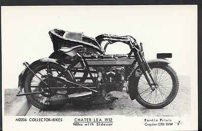 Motor Cycle Postcard - Chater Lea 1912 Bike With Sidecar - Pamlin Print A6339