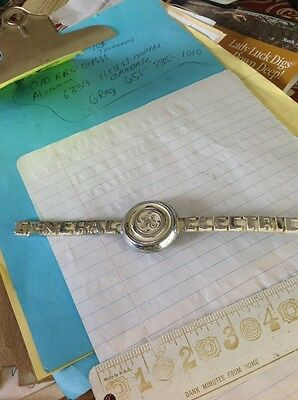 general electric refrigerator emblem 1940's GE  METAL VINTAGE