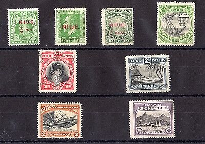 Niue 1902/32 Mint Collection of 8 Values MH X6283