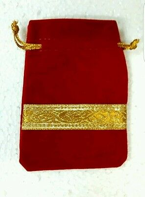 5×Red Soft Velvet Gift Ideas Velvet Pouches For That Special Person *flash Sale*