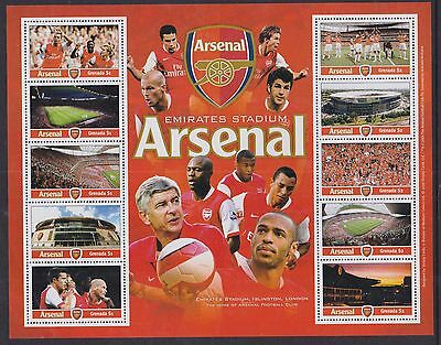 Grenada 2007 Mint MNH Minisheet Arsenal Football Club Emirates Stadium London