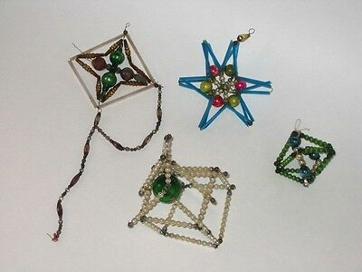 Bead Figural Antique Japan Beaded Glass Christmas Ornament Decorations 1930's
