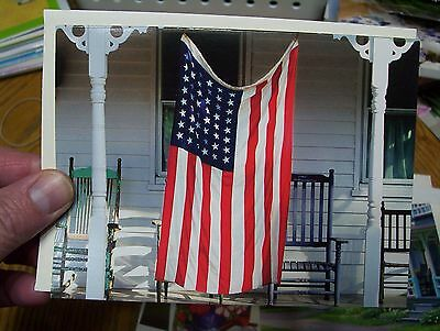 Flag Greeting Card for 4th of July Memorial Day Blank Inside w envelope