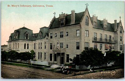 "Galveston, Texas Postcard ""St. Mary's Infirmary"" Hospital Building c1910s Unused"