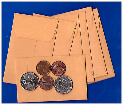 "(100) Quality Park 24lb manila gold  Coin/Small Parts Envelopes 2-1/4"" x 3-1/2""8"