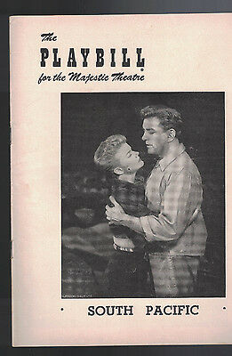 South Pacific Playbill December 22 1952 Martha Wright George Britton