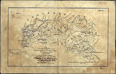 Maps Virginia AMERICAN CIVIL WAR 2nd Corps MILITARY CAMPAIGNS CAMPS Atlas BATTLE
