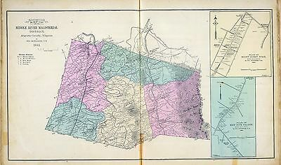 1885 AUGUSTA COUNTY VIRGINIA old GENEALOGY plat maps Atlas LAND OWNERS DVD P37