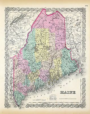 MAINE 147 maps STATE history atlas antique TREASURE HUNTING old GENEALOGY  DVD
