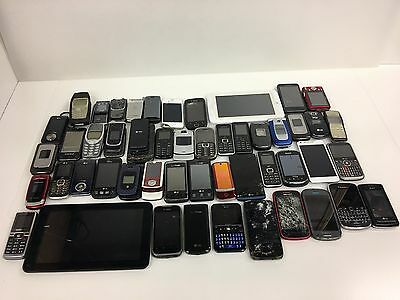 Lot of Mixed - Cell Phones - Smart Phone - Tablets for Parts or Gold Recovery -