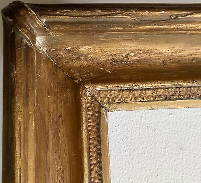 """Gorgeous Nouveau Antique Gold Spliced FRAME 26"""" Wood Arts Crafts Stanford White"""