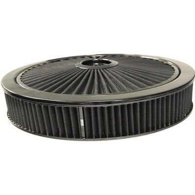"EXTRAFLOW 45729 AIR FILTER ASSEMBLY 9"" x 2"" BLACK/BLACK WASHABLE FILTER 5-1/8"" N"