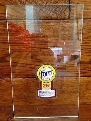 Rare Ford Franchise Clear Panel Oak Vista Eagle Astro gumball vending machine