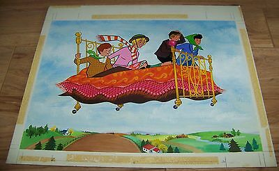 1971 Original JAYMAR Painting - Disney Bedknobs and Broomsticks ONE OF A KIND!!