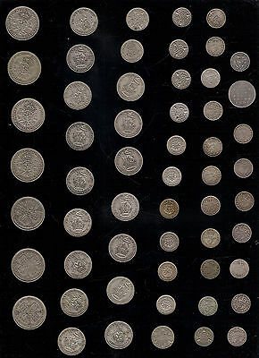 SHILLING TWO SHILLING SIXPENCE THREEPENCE 3d 6d 12d 24d 2 BOB BRITISH SILVER .5
