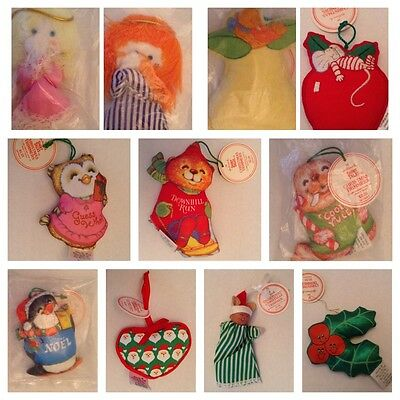 Hallmark Christmas Trimmer Sewn Fabric Ornaments 1980's Vtg *YOU CHOOSE* Choice