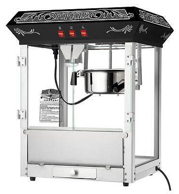 8 Ounce Old Time Popcorn Popper Machine in Black [ID 3493938]