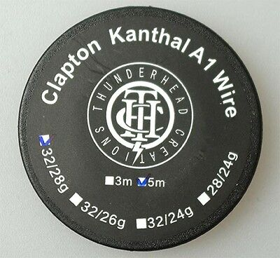 CLAPTON KANTHAL a1 WIRE 26/32 Gauge 15 Ft Coil Building Ohm Mechanical Mod