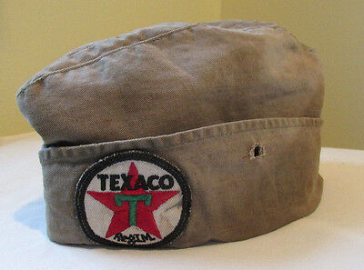 TEXACO Gas Station Attendant Hat Original Old Sign 1950s