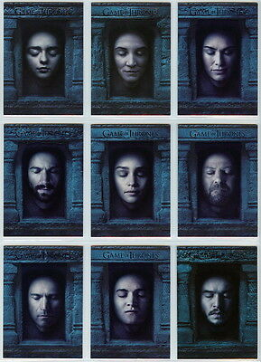 2016 Game Of Thrones Season 6 HALL OF FACES complete chase set (16 cards)