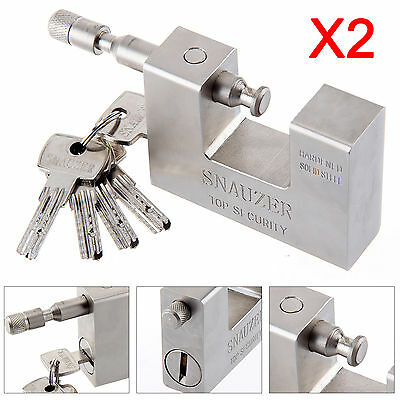 2 Pcs/Set Heavy Duty 95mm Shipping Container Garage Warehouse Padlock Chain Lock
