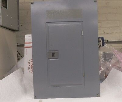 Square D Load Center, 125 amp max, 24 circuit max, 3 phase, 240 volts, used