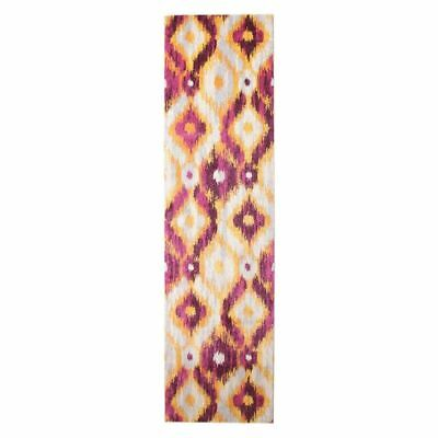 NEW Rug Culture Inga Modern Runner Rug in Aqua, Purple