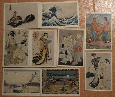 Chinese Japan Hokusai Painting POST CARD Russian 10 Reproductions Art Painting