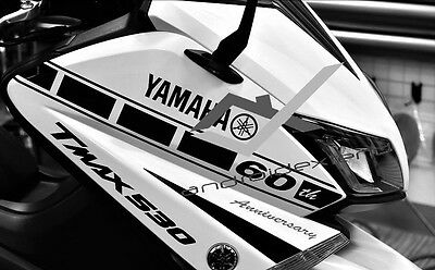 YAMAHA T-MAX 530 YAMAHA 60th ANNIVERSARY FRONT DECALS SET (2PCS)