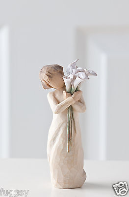 Beautiful Wishes Girl with Calla lilies Willow Tree Figurine Susan Lordi  26246