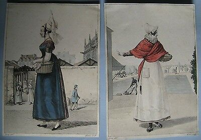 Engravings pair by G.J.Gatine French C1820