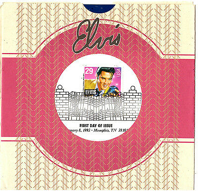Elvis Presley - Rare First Day Of Issue Ceremony Program With Stamp