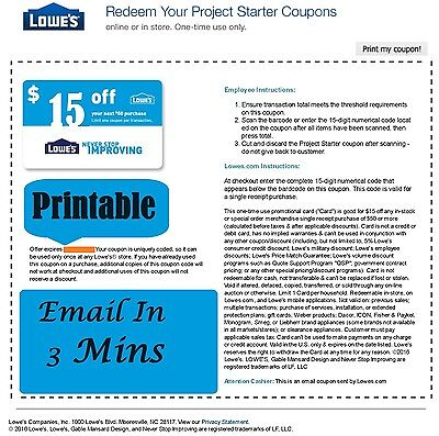 two 2x lowes 15 off 50 printable coupons very quick. Black Bedroom Furniture Sets. Home Design Ideas