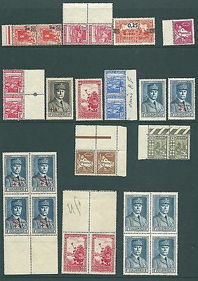 ALGERIA - Mint stamp collection including blocks and overprints