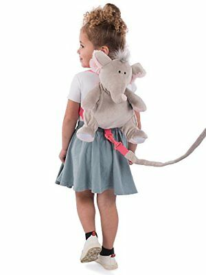 Animal Planet 2 in 1 Harness Backpack, Elephant, Grey, Child Leash, Baby