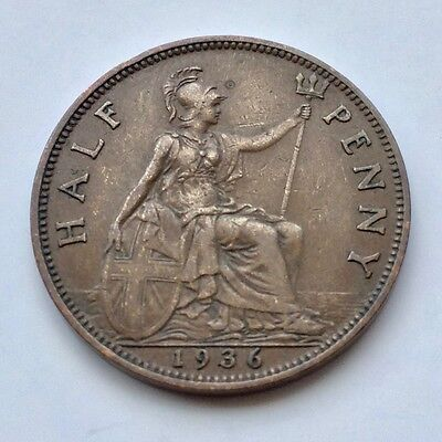 3-FOR-2 HALFPENNY King George V 1911-1936 Britannia Seated GB Coins CHOOSE DATE