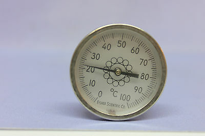 "15-077-C FISHER SCIENTIFIC 1 3/4"" DIAL THERMOMETER - 0 to 100 C"