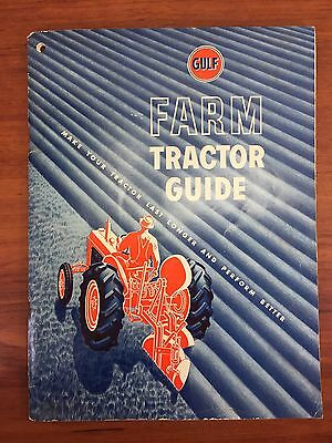 Vintage 1950 Gulf Gas & Oil Collectible Advertising Farm Tractor Guide Booklet
