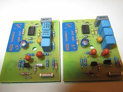QUAD 66 pre amp MC Moving Coil 2x module boards 400µV 22nF MC stereo phono pair