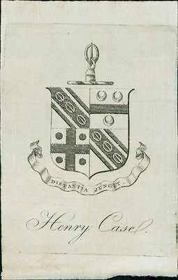 Henry Casel. Bookplate   JE.1800