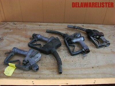 Vintage gas station gas pump nozzles lot of four Texaco antique