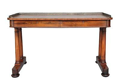 19Th Century William Iv Rosewood Writing Table Desk