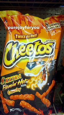 Cheetos Twice as Hot XXTRA FLAMIN HOT CHEESE Crunchy Snacks Chips BIG BAG NEW