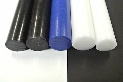 Acetal Rod Black White Blue Engineering Plastic Round Bar Billet Spacer 22-30mm