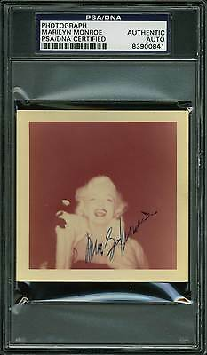 Marilyn Monroe Authentic Signed 3.5x3.5 Color Snapshot 1955 Photo PSA Slabbed 1