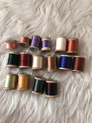 Vintage 16 x Corticelli Silk Thread Spools set New used