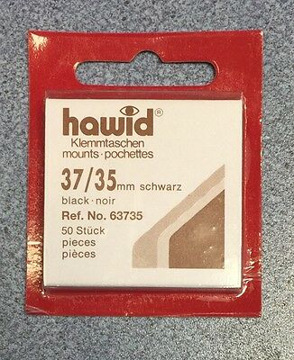 x4 Hawid Stamp Mount 37/35 -Black Mounts ~ONLY £12.25! FREE UK DELIVERY⭐️⭐️⭐️